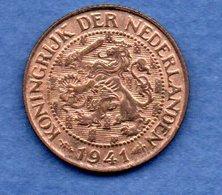 Pays Bas  -  1 Cents 1941  -  Km # 152 - état  SUP - [ 3] 1815-… : Koninkrijk Der Nederlanden