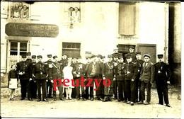Cpa Photo 57 Fontoy Café Jeanne D'arc Lucien Nonon  St Barbe Pompier 13/1 - Autres Communes