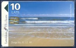 LATVIA - LETTLAND - LETTONIE LATTELEKOM 10 LATI CHIP PHONECARD TELECARTE BALTIC SEA 1998 - MINT SEALED - QTY 10.000 - Letland
