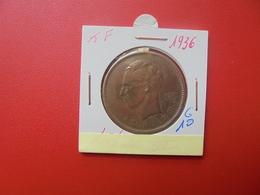 CONGO BELGE 5 FRANCS 1936 - 1934-1945: Leopold III