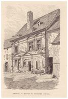 Gravure Sur Bois - 1904 - Amance (Haute-Saône) - L'hôtel National - FRANCO DE PORT - Stiche & Gravuren