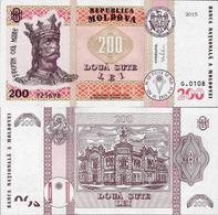 Moldova 2015 - 200 Lei - Pick 26 UNC - Moldova