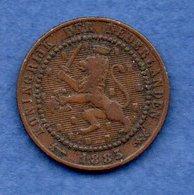 Pays Bas  -  1 Cents 1883  -  Km # 107 - état  TB - 1849-1890 : Willem III