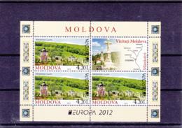 2012 - Europa Cept - Moldova - Moldavia - Moldavie - N°YT 684 Et 685** Feuilles Issues Du Carnet C684** - Europa-CEPT