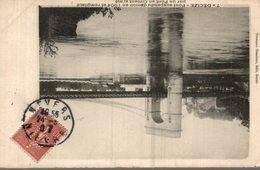 58 DECIZE PONT SUSPENDU DEMOLI EN 1904 ET REMPLACE PAR UN PONT EN CIMENT ARME - Decize