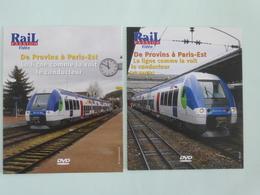 TRAINS : Lot De 2 DVD - De PROVINS à PARIS-EST La Ligne Comme La Voit Le Conducteur - Détails Sur Le 2ème Scan. - Documentales