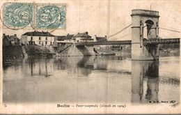 58 DECIZE PONT SUSPENDU DEMOLI EN 1904 - Decize