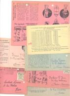 Lot De 7 Cartes Pré Imprimées - L. DEZUTTER , Machines à Broyer,.... BRUXELLES 1947 à 49 (van) - Publicité