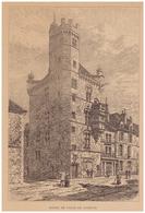 Gravure Sur Bois - 1904 - Luxeuil-les-Bains (Haute-Saône) - L'hôtel De Ville - FRANCO DE PORT - Stiche & Gravuren