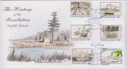 Norfolk Island 1999 The History Of The Resolution FDC - Norfolk Island