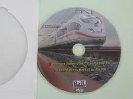 TRAINS : DVD - Premiers Essais D'un ICE Sur La LGV-Est - La LGV-Est Du Km 161 Au Km 108 - - Documentaires