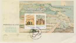 Norfolk Island 2017 Convict Heritage Souvenir Sheet FDC - Norfolk Island