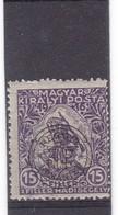 # Z.9848 Error!  Romania, Transylvania 1919 Occupation Hungarian Stamp Overprint MNH: Help War - Without BANI - Transylvanie