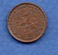 Pays Bas  -  1/2 Cents 1937 -  Km # 138 - état  TTB - 0.5 Cent