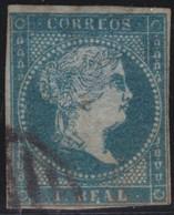 ESPANA  .      Yvert    36         .     O    .         Cancelled      .    /   .  Oblitéré - 1850-68 Regno: Isabella II