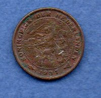 Pays Bas  -  1/2 Cents 1937 -  Km # 138 - état  TTB  --  1 Coup Tranche - [ 3] 1815-… : Royaume Des Pays-Bas