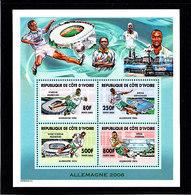 Soccer World Cup 2006 - Football - COTE D'IVOIRE - S/S MNH - Coupe Du Monde