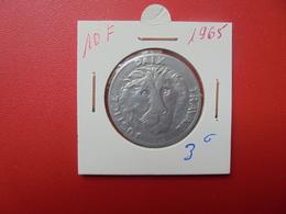 EX-CONGO BELGE 10 FRANCS 1965 - Congo (Rép. Démocratique, 1964-70)
