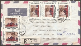 Enveloppe Afghanistan - Timbres N° 1023x5 Et 763 (bon Etat) - Afghanistan