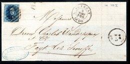 11A Sur Devant De Lettre Expédiée Le 8 Mars 1860 De Tournay à Destination De Fayt-Lez-Seneffe. - 1858-1862 Medaillen (9/12)