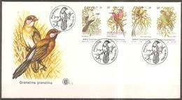 Enveloppe Bophuthatwana - Oiseaux Timbres N° 60 à 63 Le 09/10/1980 (bon Etat) - Bophuthatswana