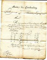 AUDE De CASTELNAUDARY LAC  A En Tête De La Ville  Du 7/11/1815 Linéaire 58x10 Taxée 3 Pour LIMOUX - 1801-1848: Precursors XIX