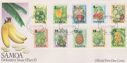 Samoa 1983 Fruits Part I FDC - Samoa