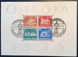 Deutsches Reich 1935 Ostropa Königsberg Briefmarken Ausstellung Block 3 FDC-Stpl (bloc Souvenir Sheet Moyen Age Medieval - Blocks & Kleinbögen