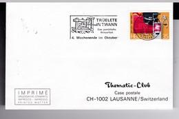 ENVELOPPE  SIMPLE  SUISSE 1985 (petit Format ) /  FLAMME  PRESENTATION  PRESSOIR A VIN - Wines & Alcohols