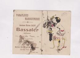 CALENDRIER 1932 , (en 2 Volets) MAISON BASSALER, PARAPLUIES , MAROQUINERIE A TOULOUSE - Calendarios