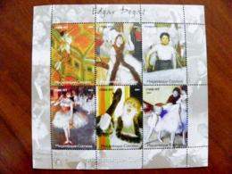 SALE! Mozambique M/s 2004 Art Paintings Painter Edgar Degas Women Ballet Dance - Mozambique