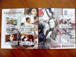 SALE! Mozambique 2 M/s 2013 Art Paintings Painter Eugene Delacroix France D'arc - Mozambique