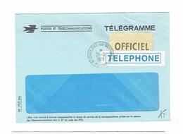 FRANCE ENVELOPPE VIDE TELEGRAMME OFFICIEL TELEPHONE CHALONS SUR MARNE 23 3 1979 - Postmark Collection (Covers)