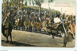 MOZAMBIQUE - Lourenço Marques -Batuque - Dança Do Chefe - War Dance The Chief Dancing - Mozambique