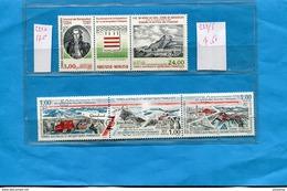 T A A F-2 Triptyques -Kerguelen+50ème Anniv Expéditions Polaires  N°222A+223-5 Neufs** Sans Ch Cote 25 Eu - Unused Stamps