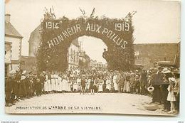 Carte-Photo - Guerre 14-18 - Honneur Aux Poilus - Présentation De L'Arbre De La Victoire - War 1914-18