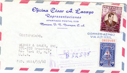 NICARAGUA AIRMAIL COVER 1959 - Nicaragua