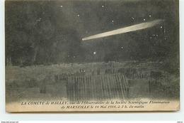 La Comète De Halley Vue De L'Observatoire De La Société Scientifique Flammarion De Marseille Le 10 Mai 1910 - Astronomy