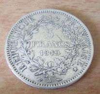 France - Monnaie 5 Francs Hercule 1849 A En Argent - Achat Immédiat - France