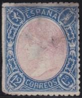 ESPANA  .      Yvert   74         .       O       .         Cancelled      .    /   .  Oblitéré - 1850-68 Regno: Isabella II