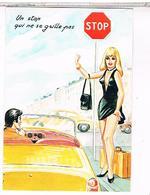 ILLUSTRATEUR LOUIS CARRIERE N°50373 Pin Up    UN STOP  QUI  NE  SE  GRILLE PAS   CPM   TBE PH976 - Carrière, Louis