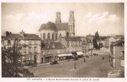 Angers - 49 -L'Eglise Saint-Joseph Domine La Place Du Lycée -Commerces Boulangerie-Paypal Sans Frais - Angers