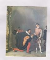 CARTE NON POSTALE EN 2 VOLETS, DON PEDRO DE TOLEDE BAISANT L EPEE DE HENRI IV - Peintures & Tableaux