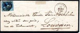 7 Sur ESC Expédiée Le 31 Mars 1858 D'Anvers à Destination De Louvain, Cachet D'arrivée Du Même Jour Au Verso. - 1851-1857 Médaillons (6/8)