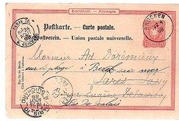 1888 BROCKEN To Paris > Sur La Plage PARIS RUE GUICHARD (694) - Briefe U. Dokumente