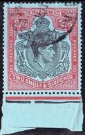 BERMUDA KGVI 1943 2/6 Shillings Black & Red On Grey Blue SG117b P14 Fine Used - Bermuda