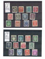 FRANCE ARMOIRIES VILLES ANNEE 1941 526/537 ET ANNEE 1942  553/564  TRACES DE CHARNIERES - France