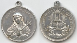 MED 178 - MEDAGLIA - SIA ADORATO IL SS. SACRAMENTO - MATER DOLOROSA - Religion & Esotericism