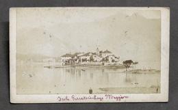 Fotografia D'epoca Originale - Isola Dei Pescatori - Lago Maggiore - 1880 Ca. - Foto