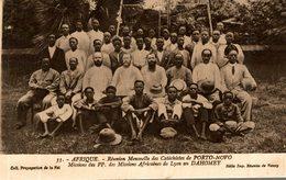 REUNION MENSUELLE DES CATECHISTES DE PORTO NOVO MISSIONS AFRICAINES DE LYON - Dahomey